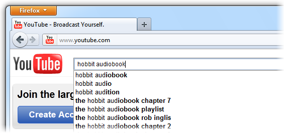 Search audio book